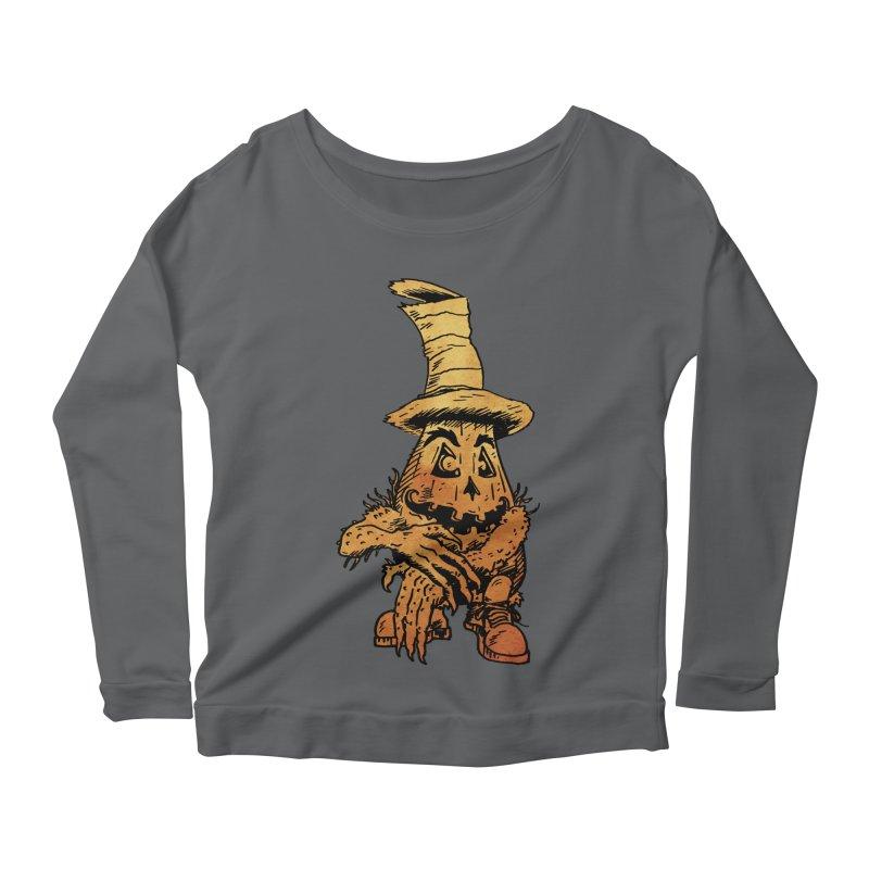 Pumpkin Head Women's Longsleeve T-Shirt by Gregery Miller's Art Shop
