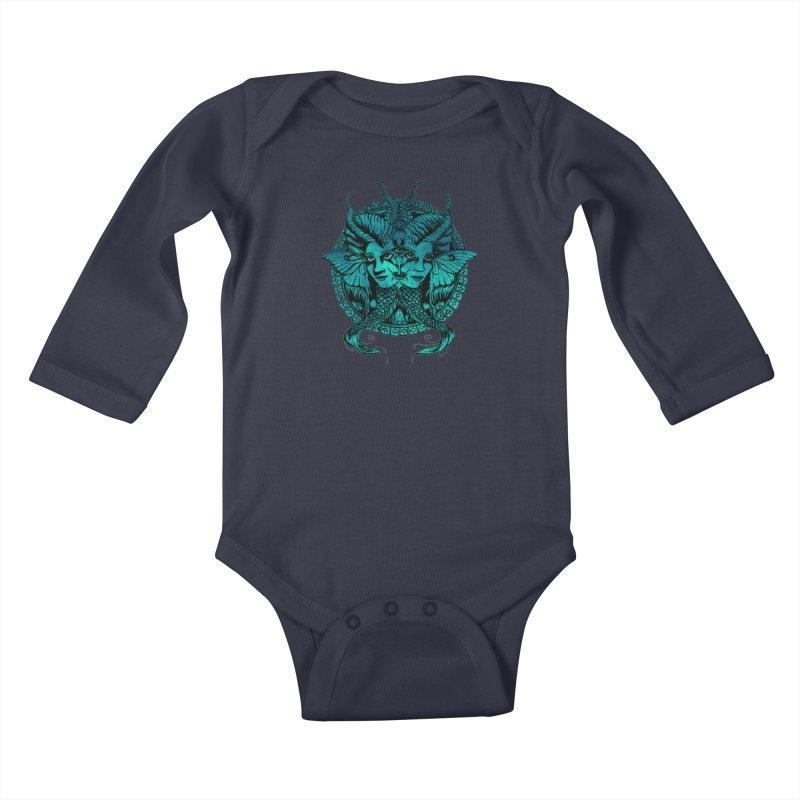 The Sirens Kids Baby Longsleeve Bodysuit by Gregery Miller's Art Shop