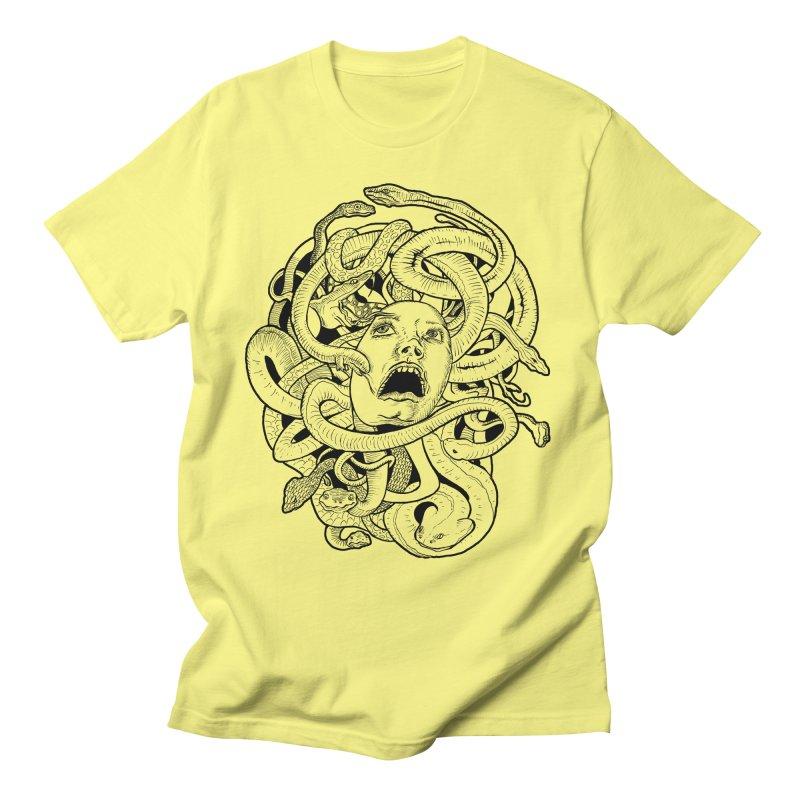 Medusa Variant Men's T-Shirt by Gregery Miller's Art Shop