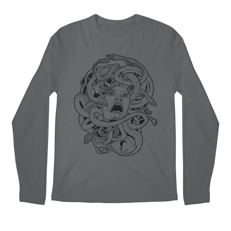 Medusa Variant Men's Longsleeve T-Shirt by Gregery Miller's Art Shop