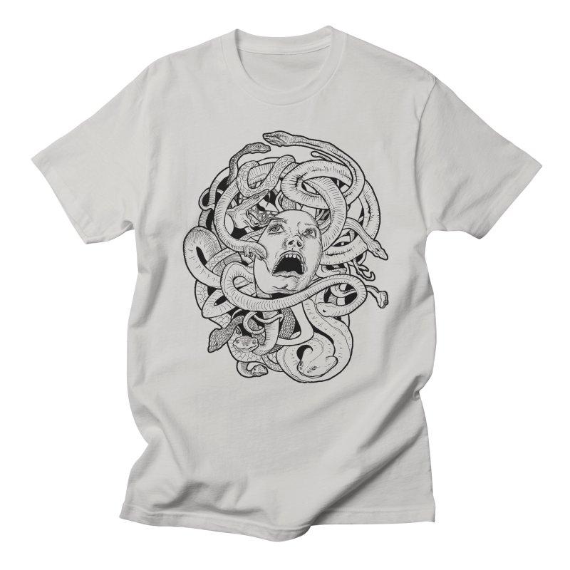Medusa Variant in Men's Regular T-Shirt Stone by Gregery Miller's Art Shop