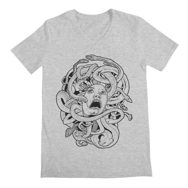 Medusa Variant Men's V-Neck by Gregery Miller's Art Shop