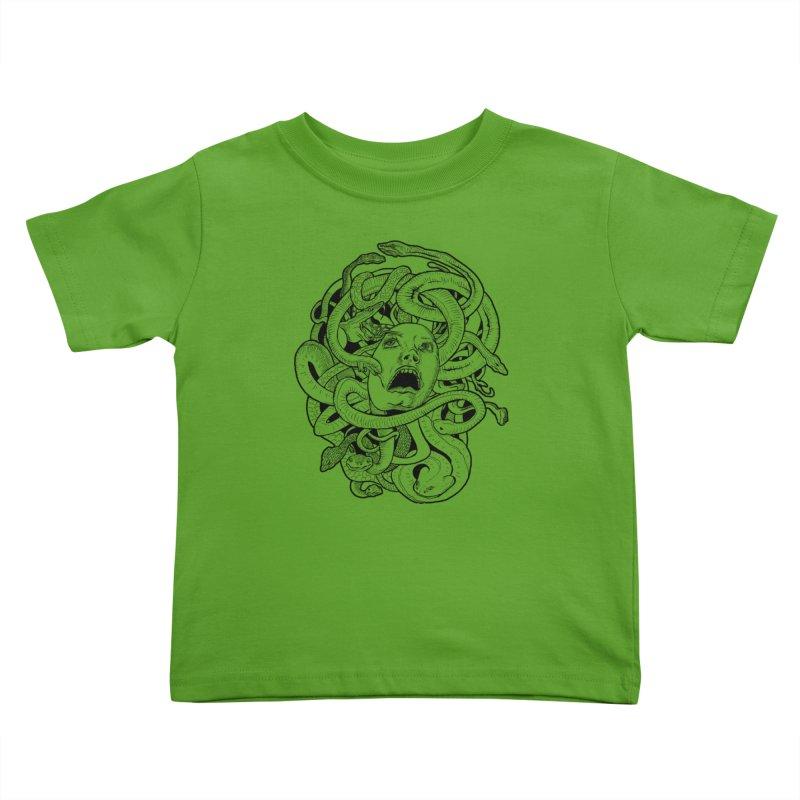 Medusa Variant Kids Toddler T-Shirt by Gregery Miller's Art Shop