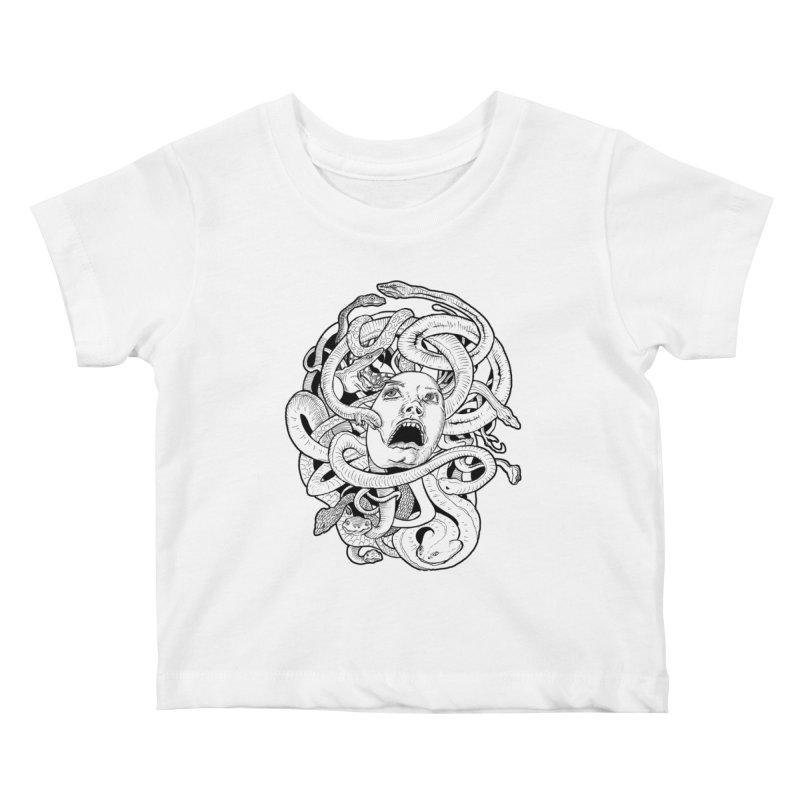 Medusa Variant Kids Baby T-Shirt by Gregery Miller's Art Shop