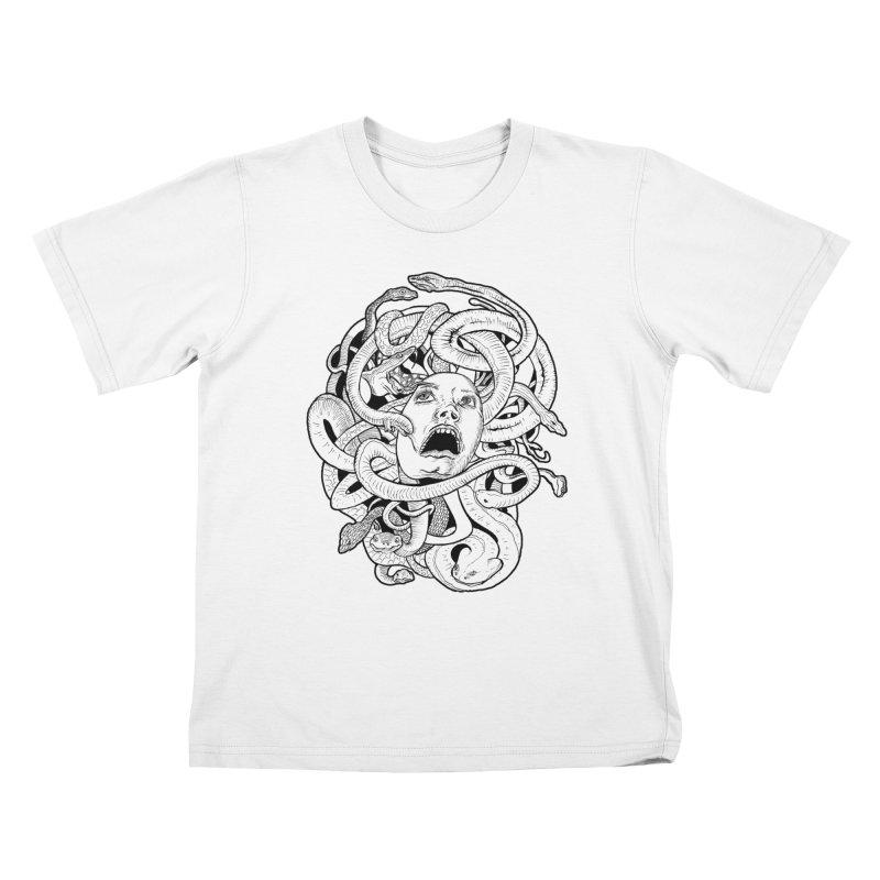 Medusa Variant Kids T-Shirt by Gregery Miller's Art Shop