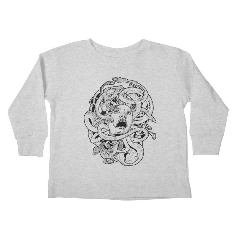 Medusa Variant Kids Toddler Longsleeve T-Shirt by Gregery Miller's Art Shop