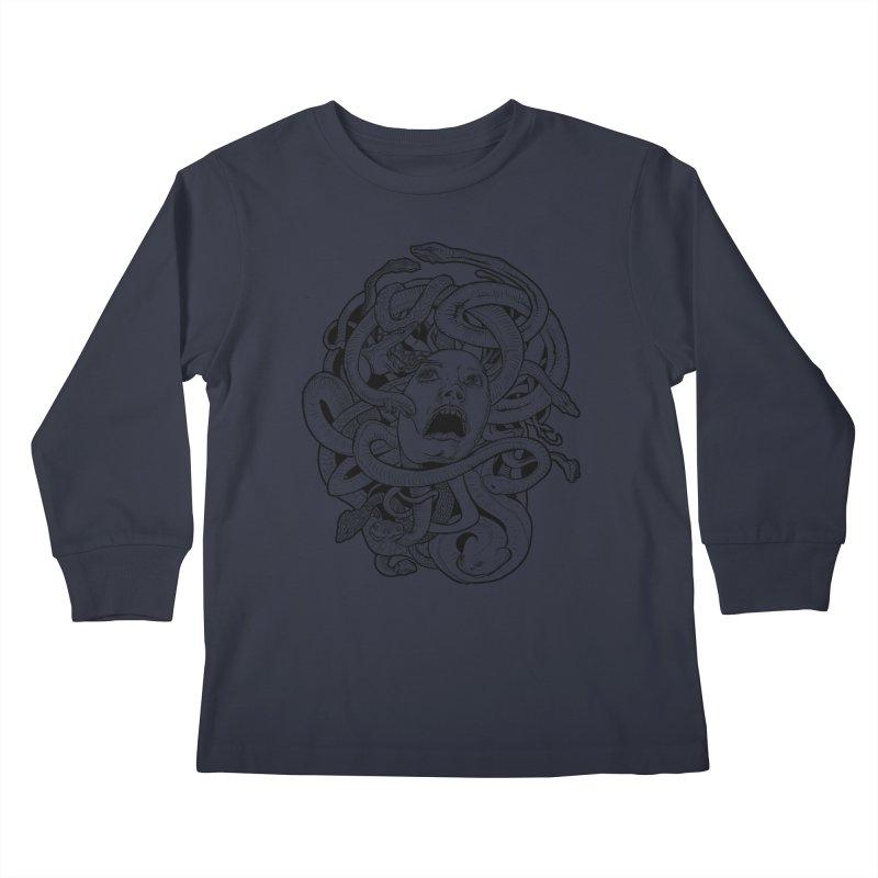 Medusa Variant Kids Longsleeve T-Shirt by Gregery Miller's Art Shop