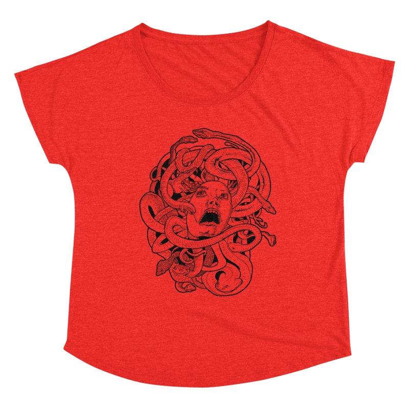 Medusa Variant Women's Scoop Neck by Gregery Miller's Art Shop