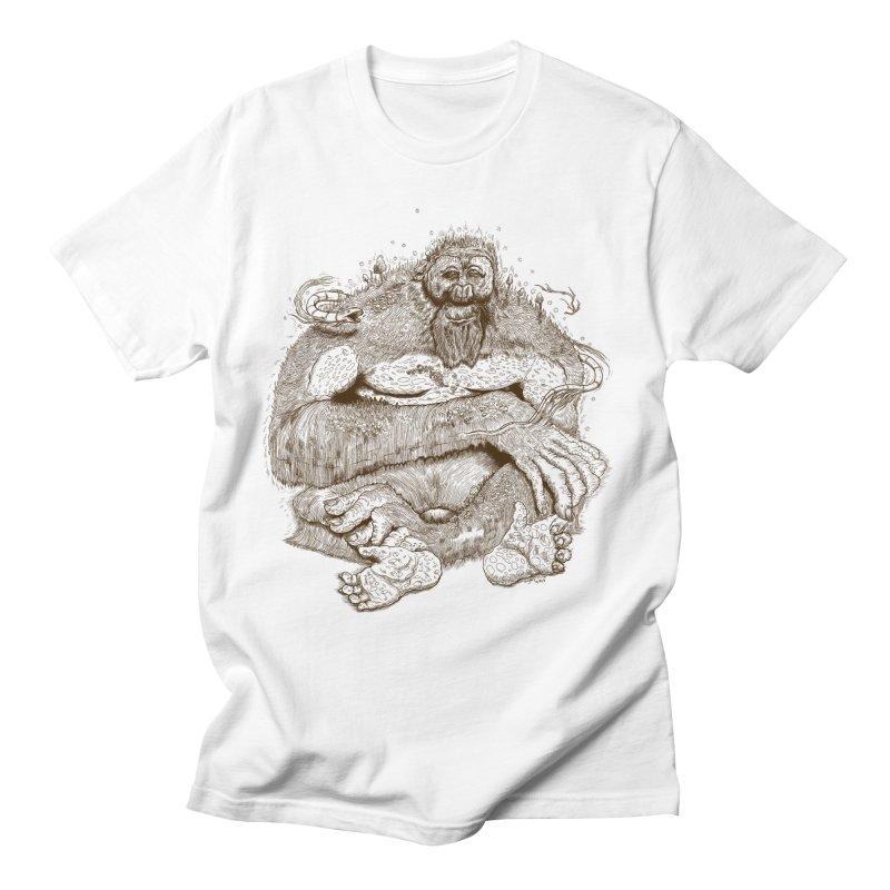 Sasquatch Men's T-Shirt by Gregery Miller's Art Shop
