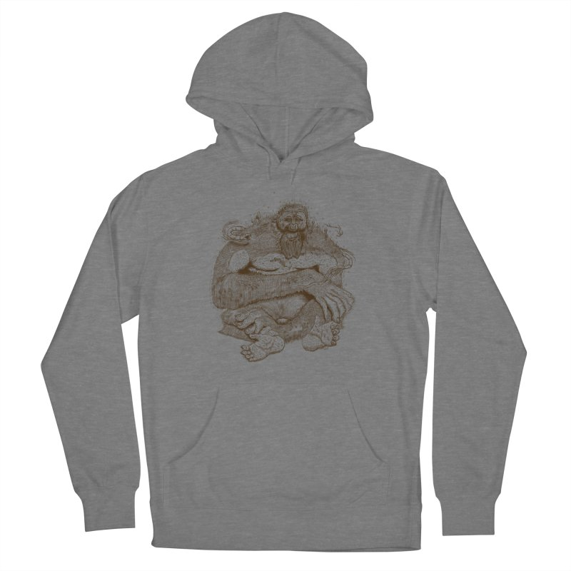 Sasquatch Men's Pullover Hoody by Gregery Miller's Art Shop