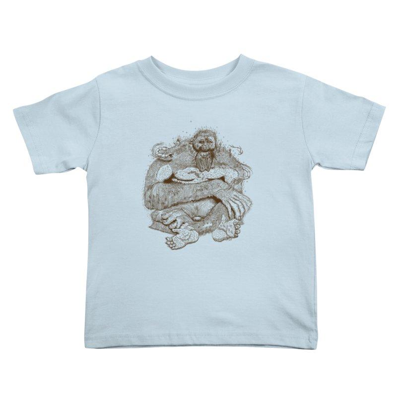 Sasquatch Kids Toddler T-Shirt by Gregery Miller's Art Shop