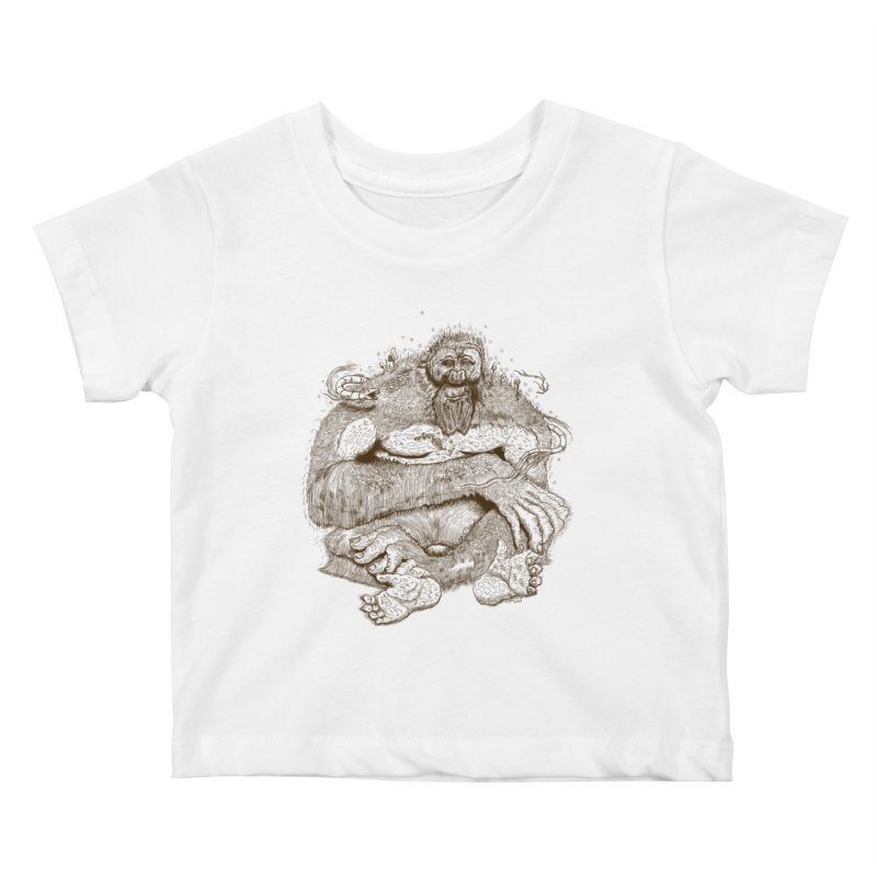Sasquatch Kids Baby T-Shirt by Gregery Miller's Art Shop