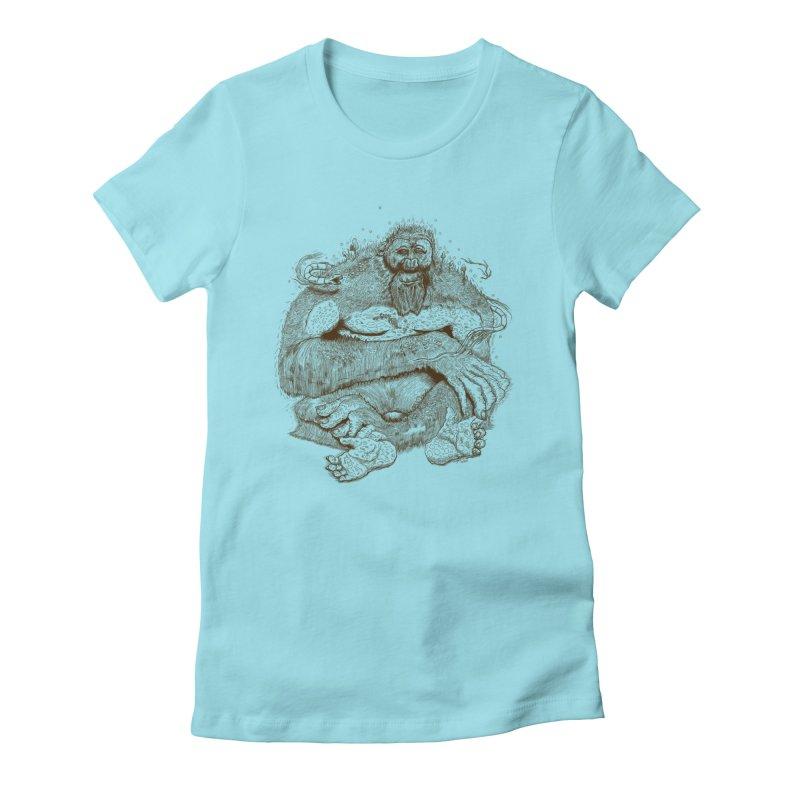 Sasquatch Women's T-Shirt by Gregery Miller's Art Shop