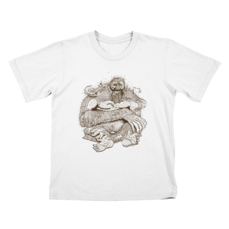 Sasquatch Kids T-Shirt by Gregery Miller's Art Shop