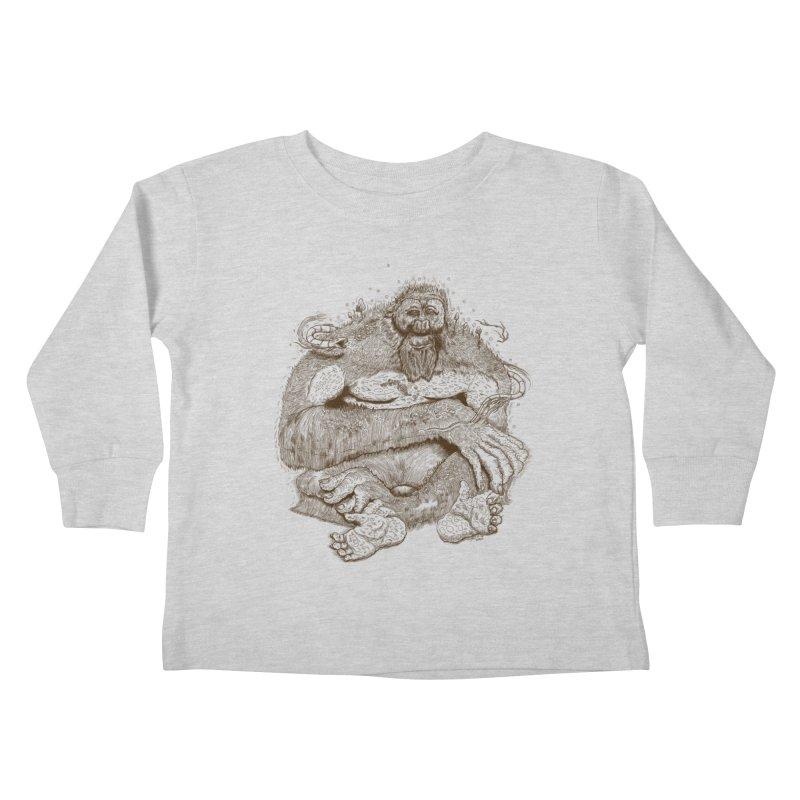Sasquatch Kids Toddler Longsleeve T-Shirt by Gregery Miller's Art Shop