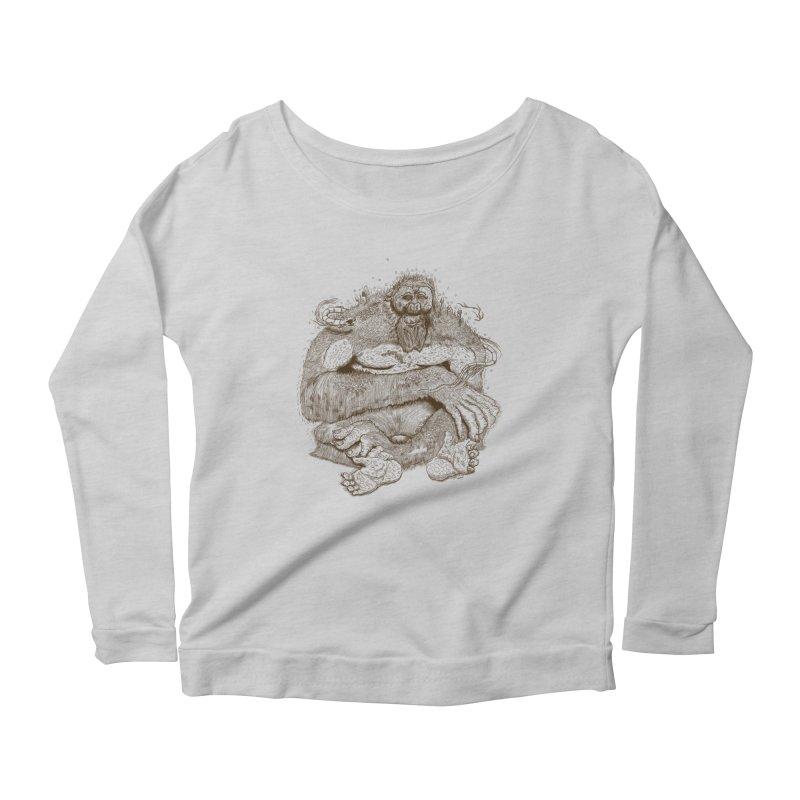 Sasquatch Women's Longsleeve T-Shirt by Gregery Miller's Art Shop