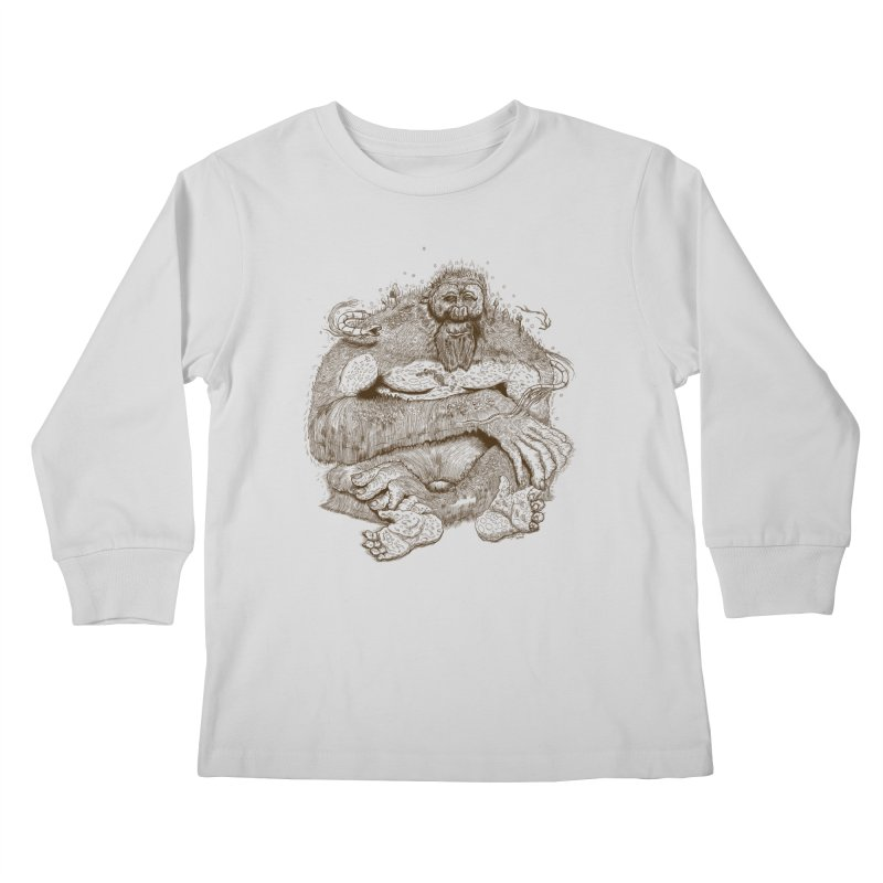 Sasquatch Kids Longsleeve T-Shirt by Gregery Miller's Art Shop