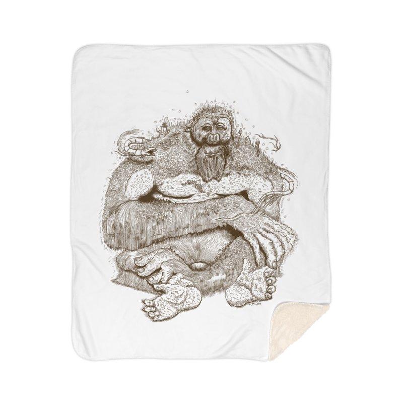 Sasquatch Home Blanket by Gregery Miller's Art Shop