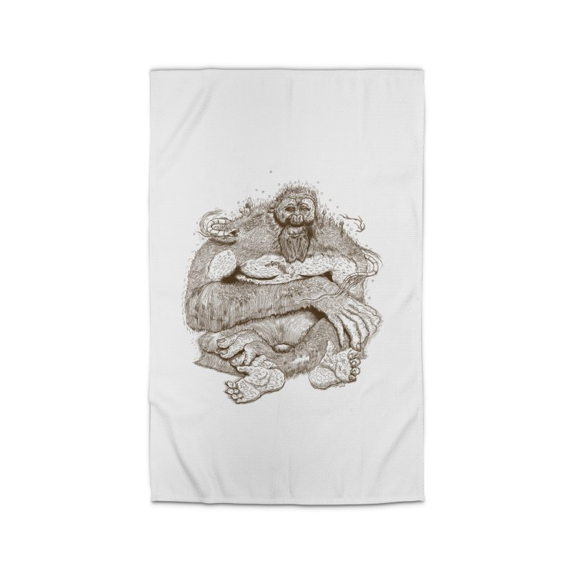 Sasquatch Home Rug by Gregery Miller's Art Shop