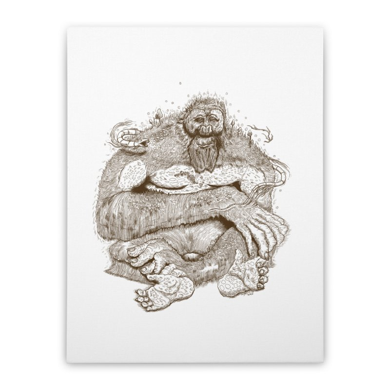 Sasquatch Home Stretched Canvas by Gregery Miller's Art Shop
