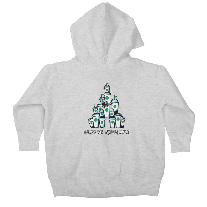 Coffee Kingdom Kids Baby Zip-Up Hoody by Greg Gosline Design Co.