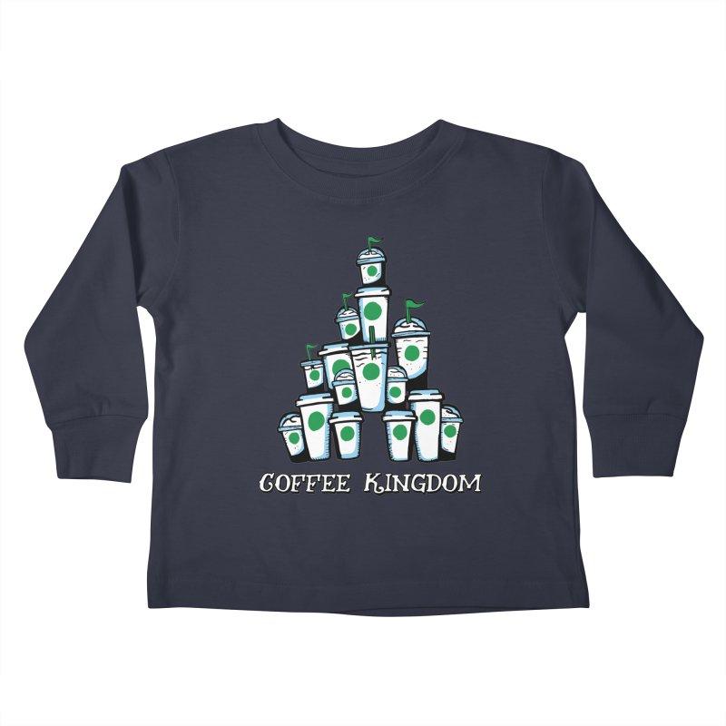Coffee Kingdom Kids Toddler Longsleeve T-Shirt by Greg Gosline Design Co.