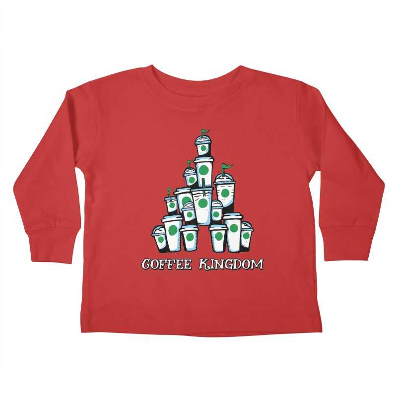 Coffee Kingdom Kids Toddler Longsleeve T-Shirt by Greg Gosline Design Co.