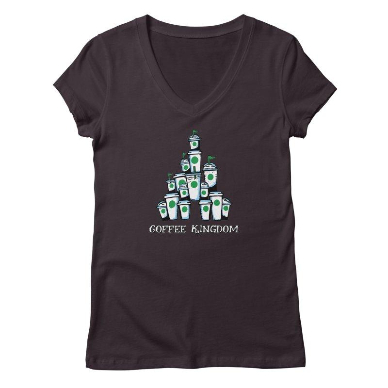 Coffee Kingdom Women's V-Neck by Greg Gosline Design Co.