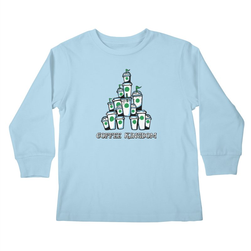 Coffee Kingdom Kids Longsleeve T-Shirt by Greg Gosline Design Co.