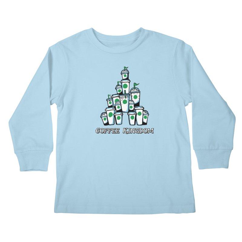 Coffee Kingdom Kids Longsleeve T-Shirt by Greg Gosline Design Co.