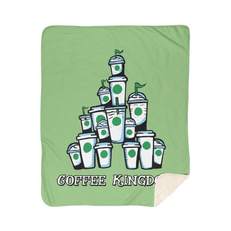 Coffee Kingdom Home Sherpa Blanket Blanket by Greg Gosline Design Co.
