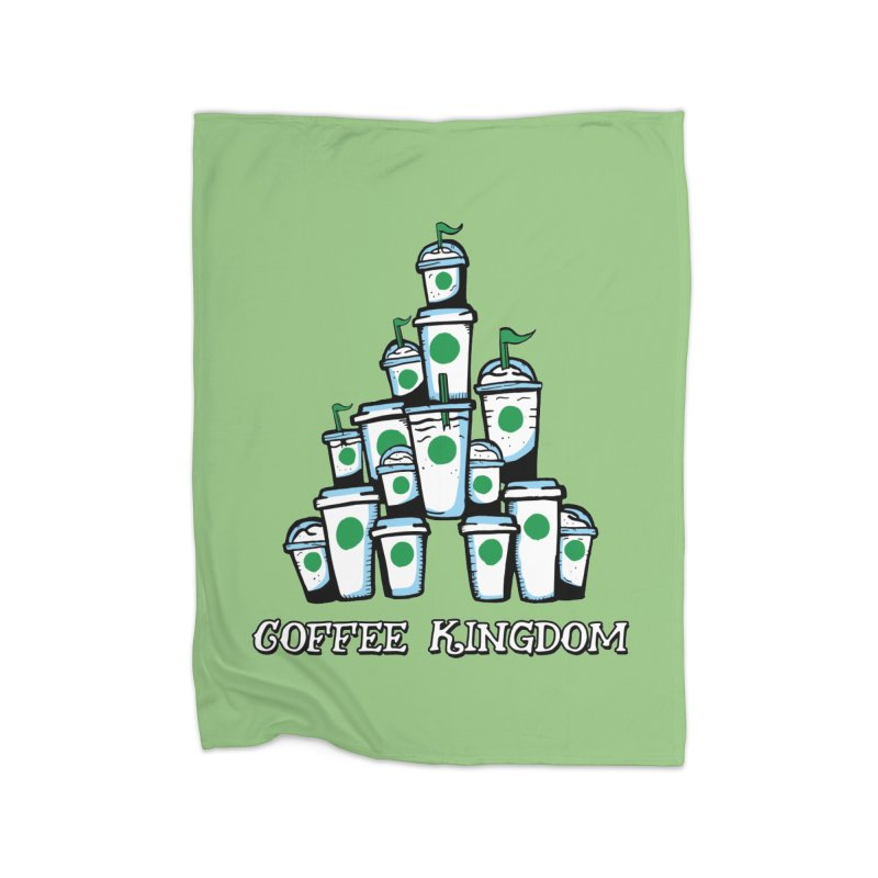 Coffee Kingdom Home Fleece Blanket Blanket by Greg Gosline Design Co.