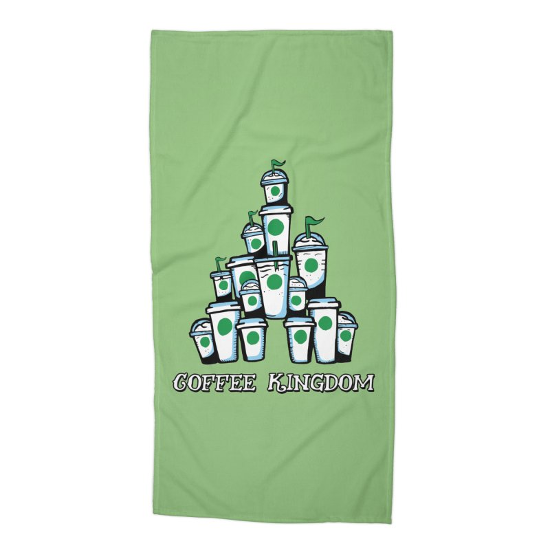Coffee Kingdom Accessories Beach Towel by Greg Gosline Design Co.