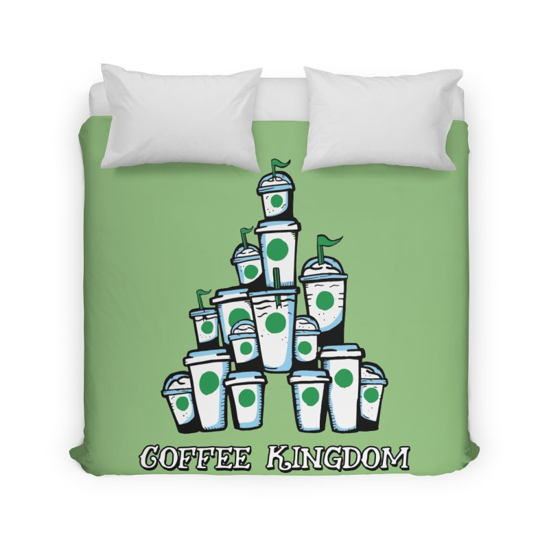 Coffee Kingdom Home Duvet by Greg Gosline Design Co.