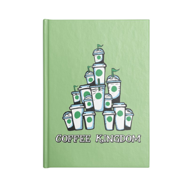 Coffee Kingdom Accessories Lined Journal Notebook by Greg Gosline Design Co.