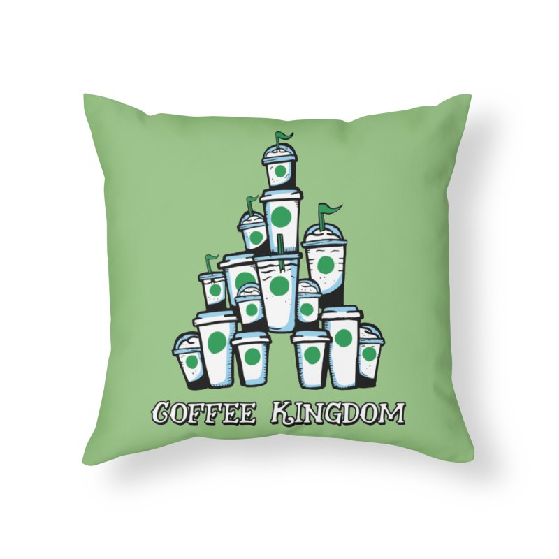 Coffee Kingdom Home Throw Pillow by Greg Gosline Design Co.