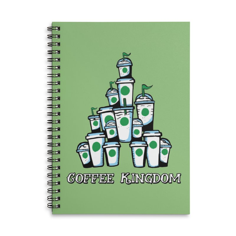 Coffee Kingdom Accessories Lined Spiral Notebook by Greg Gosline Design Co.