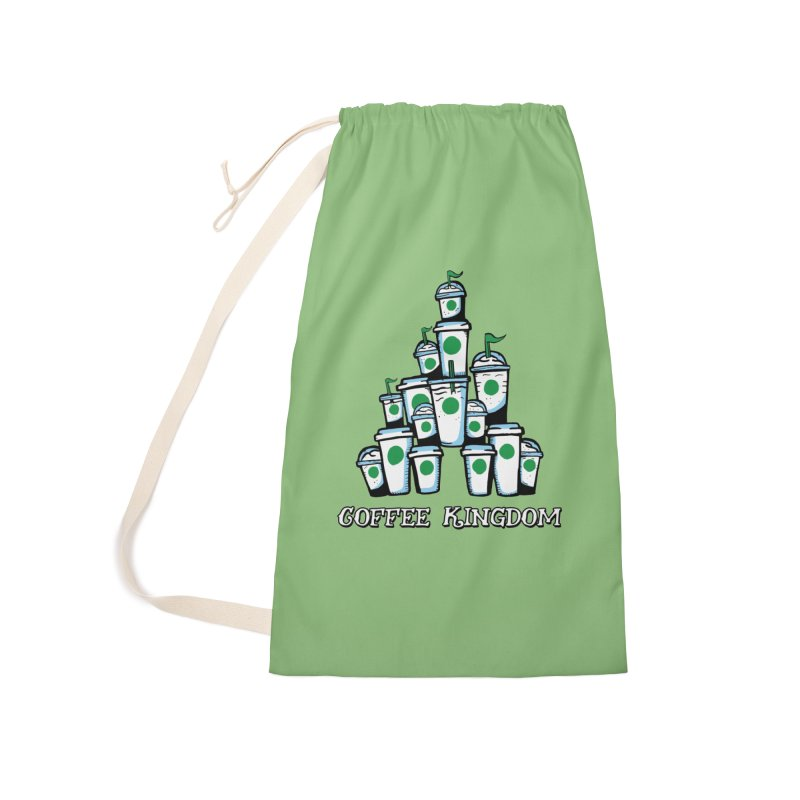 Coffee Kingdom Accessories Laundry Bag Bag by Greg Gosline Design Co.