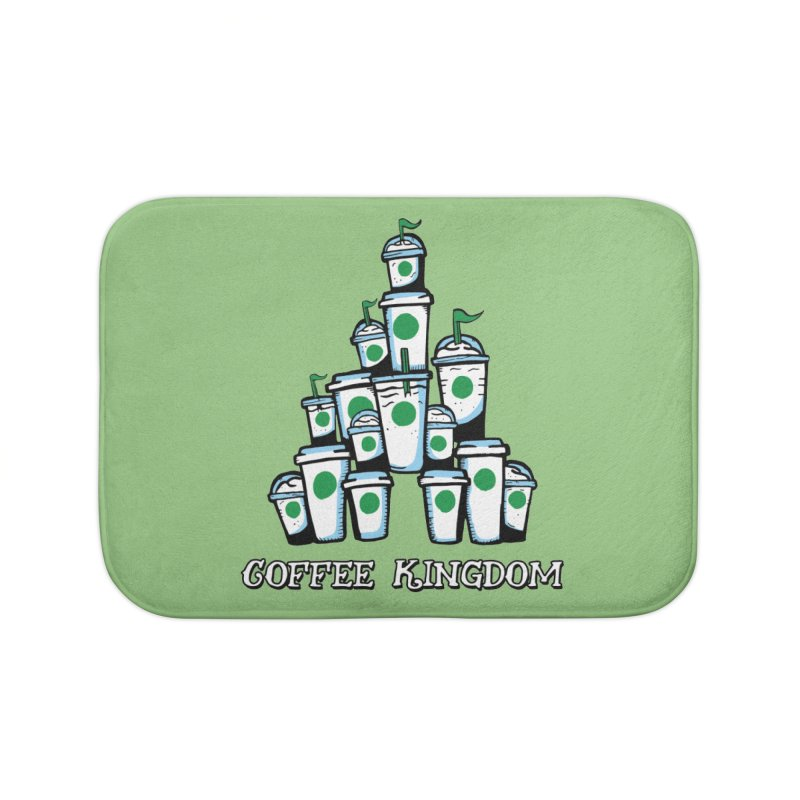 Coffee Kingdom Home Bath Mat by Greg Gosline Design Co.