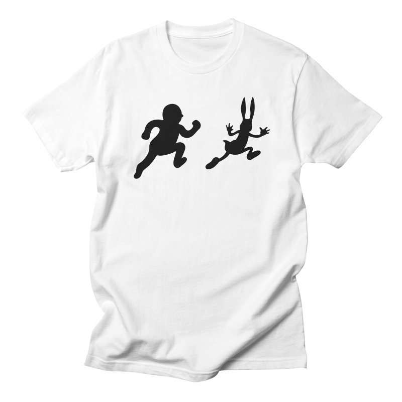 Bunny and Hunter Men's T-Shirt by grego's Artist Shop