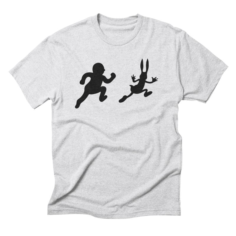 Bunny and Hunter Men's Triblend T-Shirt by grego's Artist Shop