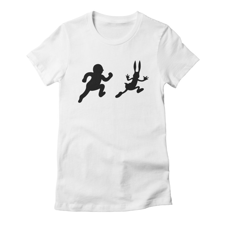 Bunny and Hunter Women's Fitted T-Shirt by grego's Artist Shop