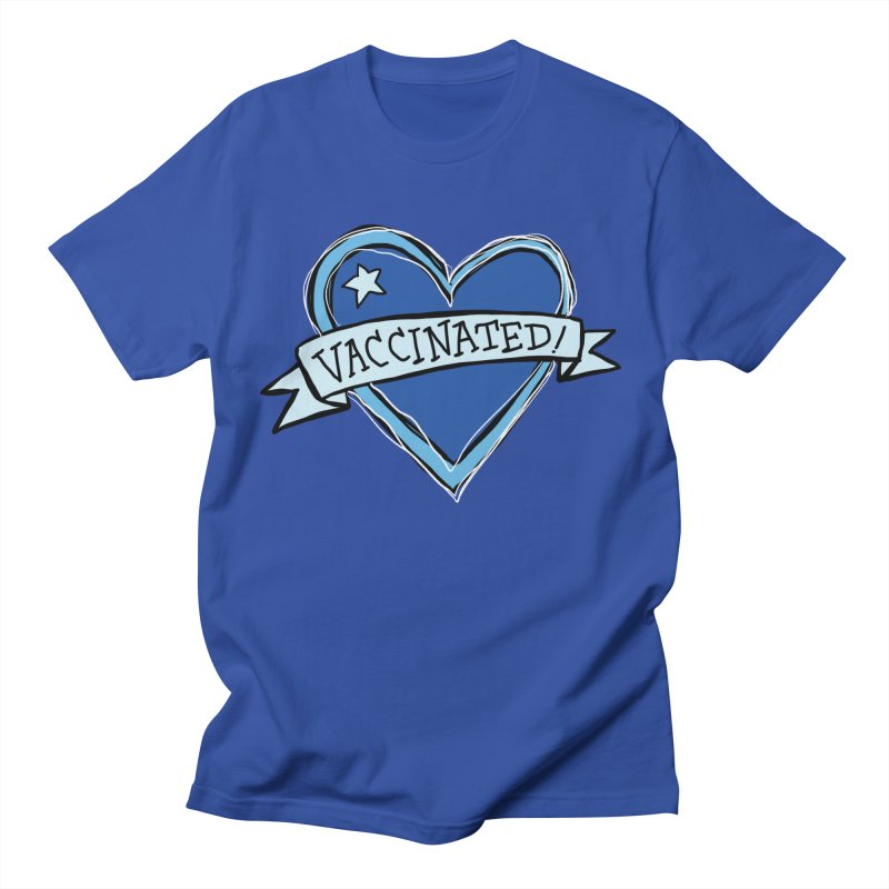 Vaccinated! Heart - Electric Men's T-Shirt by Greg Pak's Threadless Shop