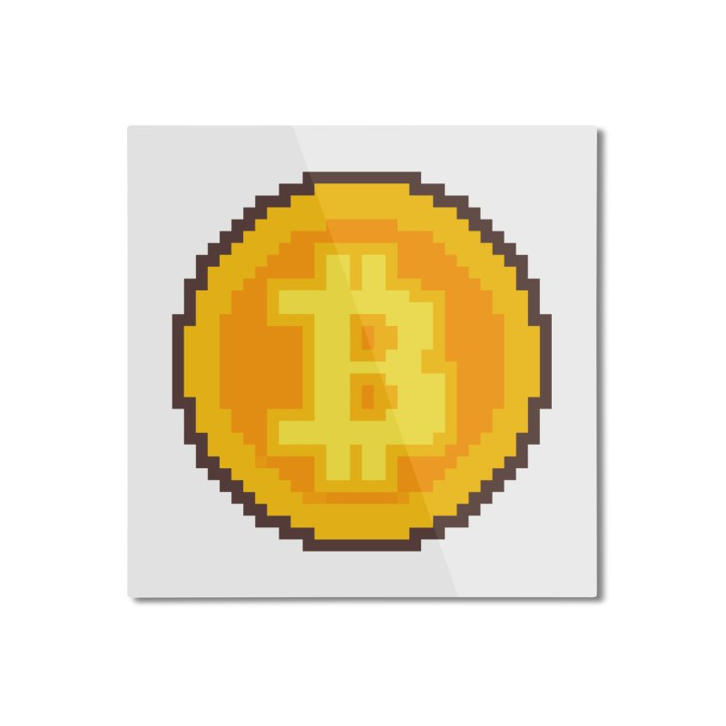 Pixel art Bitcoin coin