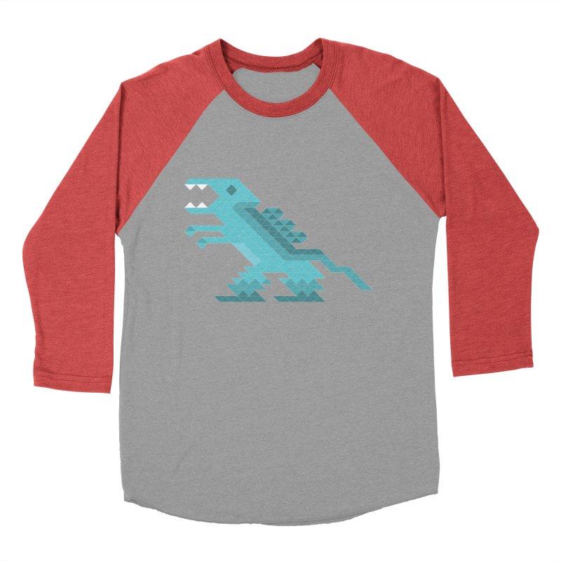 Cube-O-Saur Women's Baseball Triblend T-Shirt by Ominous Artist Shop
