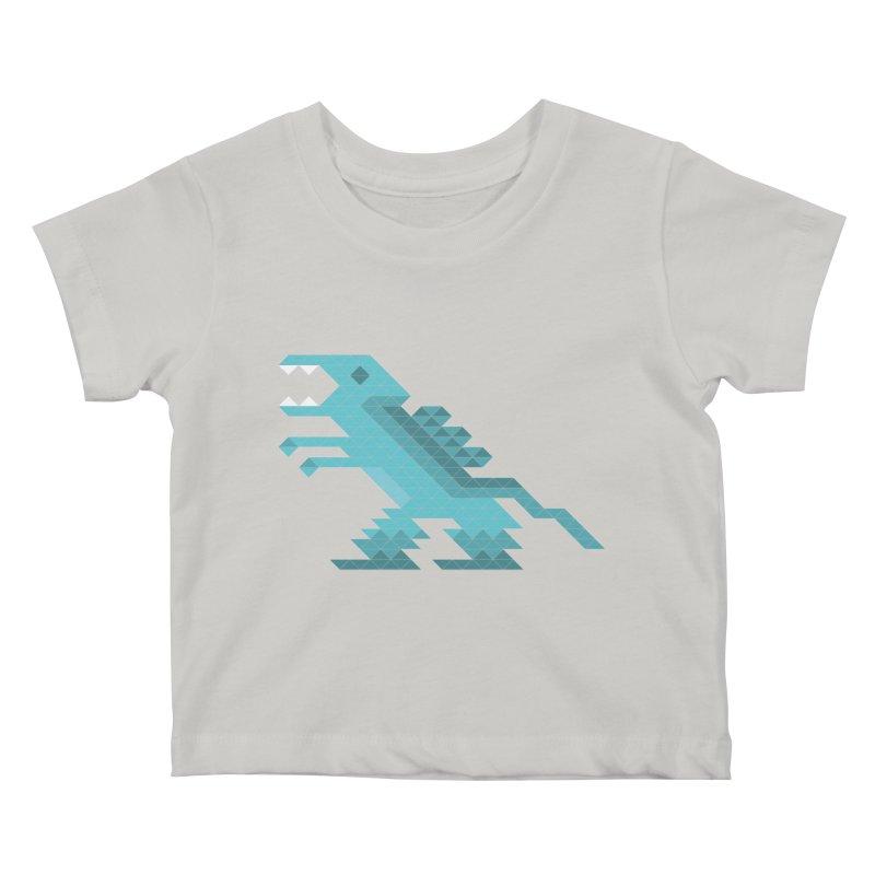Cube-O-Saur Kids Baby T-Shirt by Ominous Artist Shop