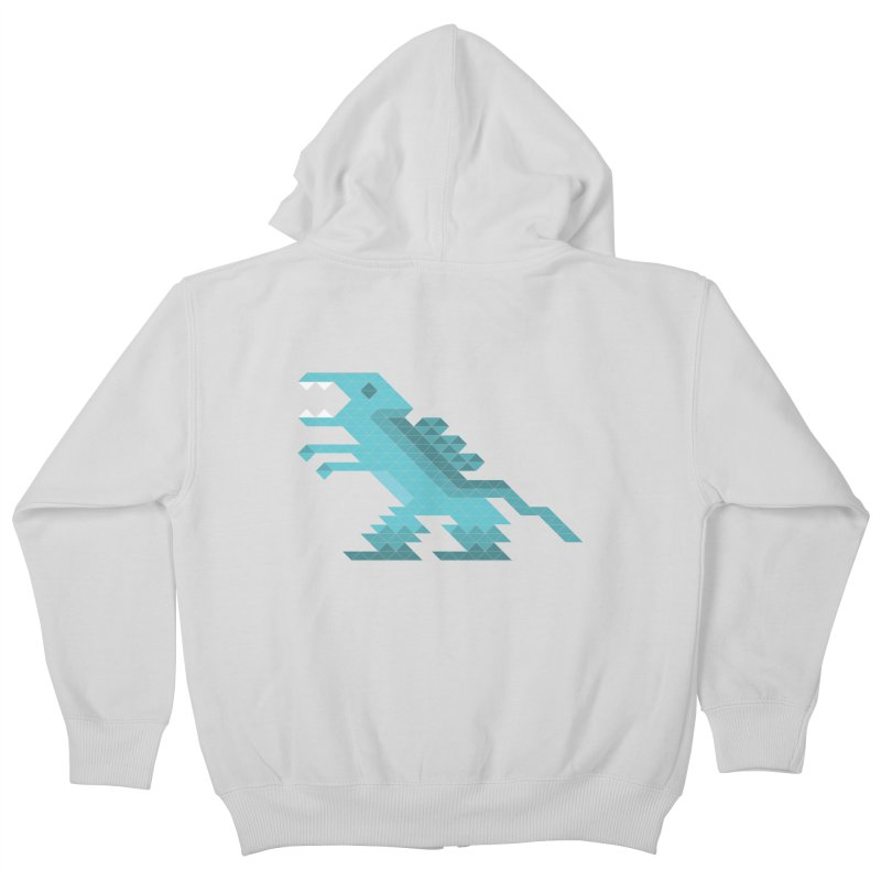 Cube-O-Saur Kids Zip-Up Hoody by Ominous Artist Shop