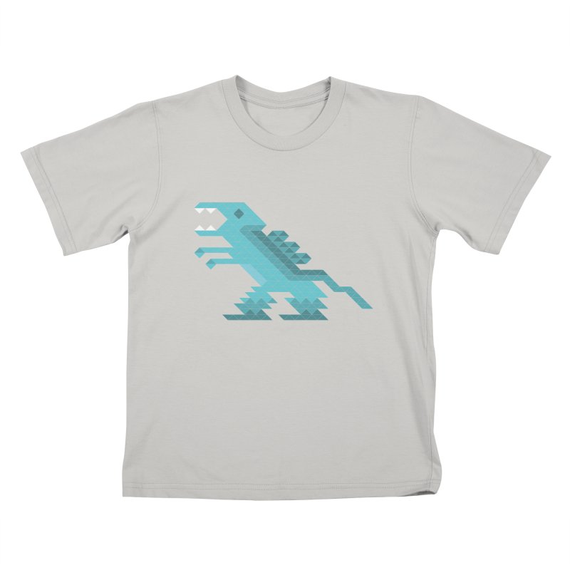 Cube-O-Saur Kids T-Shirt by Ominous Artist Shop