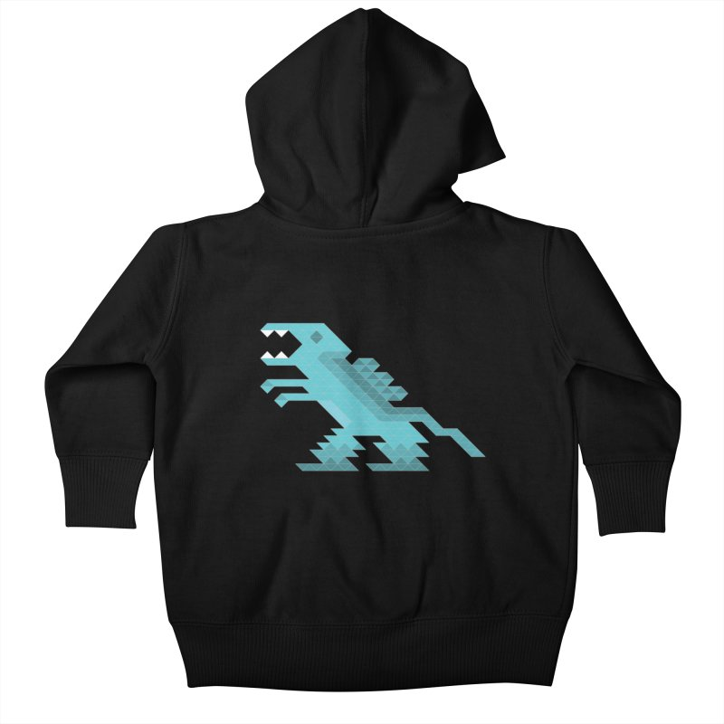 Cube-O-Saur Kids Baby Zip-Up Hoody by Ominous Artist Shop