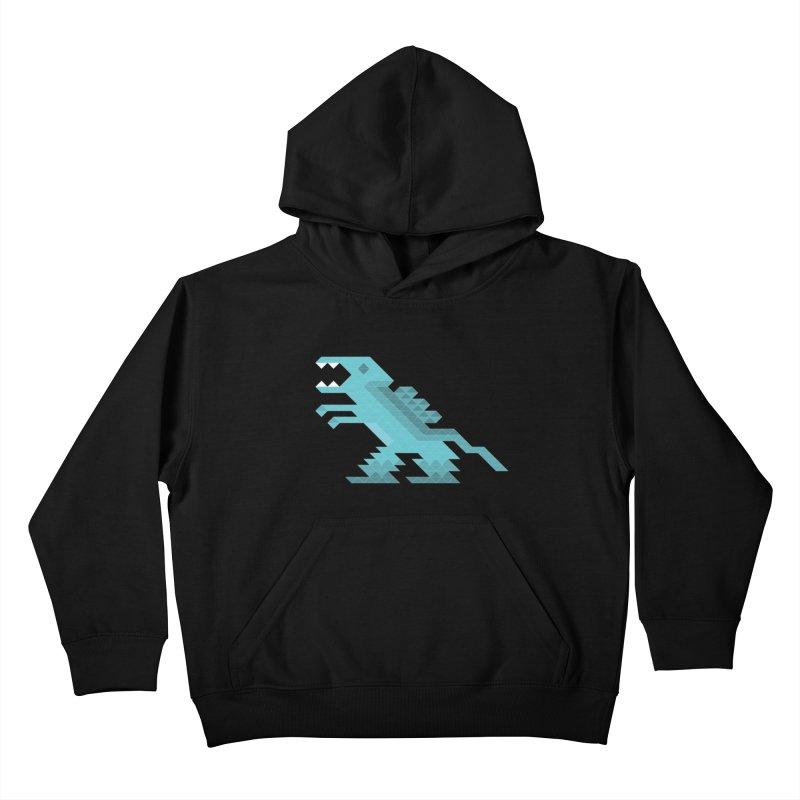Cube-O-Saur Kids Pullover Hoody by Ominous Artist Shop